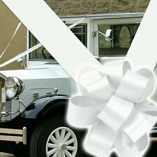 BOWS AND RIBBON FOR WEDDING CAR. FAST FREE DELIVERY (LARGE BOWS)