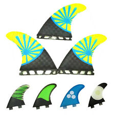 NEW 3 PCS/SET Surfboard Fins Surf Fins FCS G5 G7 Size M L Fiberglass Honey Comb