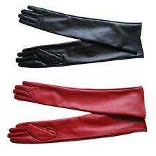 Pop Long PU Leather Gloves Party Women Gloves Warm Outdoors Long Sexy Gloves 1pc