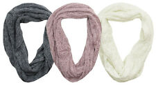 New Ladies Cheap Loose Knit Snood LuxuryFeel Glitter snood Cowl Scarf Neck Wrap