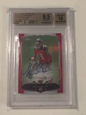 Mike Evans 2014 Topps Chrome Mini Pink Refractor RC Tampa Bucs Auto /75 BGS 9.5
