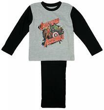 Boys Official Marvel Avengers Assemble Hulk Thor Long Pyjamas Grey 4 to 10 Years