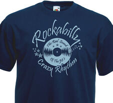 T-Shirt ROCKABILLY CRAZY RHYTHM Rock'n'Roll 60's 50's Fifties Vintage SUN Vinyl