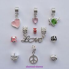 Themed Gift Sets of Mixed Dangle & Charm Bracelet Beads *FREE UK 1st Class*