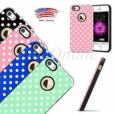 Protective Case TPU Soft Rubber Polka-dot Shockproof Cover For Apple iPhone 5S