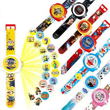 Cute Cartoon Figures Projection Wrist Watch Kids Children Boy Girl Xmas Toy Gift