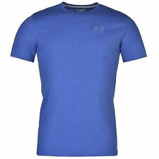 Under Armour Charged Cotton Chest Lockup T-Shirt Mens Royal/Grey Top Tee Shirt