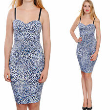 BODYCON BUSTIER MINI DRESS LEOPARD COCKTAIL EVENING PARTY CLUB DRESSES A1859