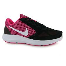 Nike Revolution 3 Running Shoes Womens Pink/White/Black Run Trainers Sneakers