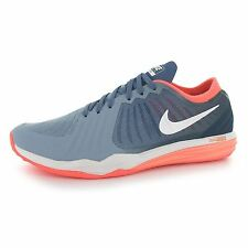 Nike Dual Fusion Print Running Shoes Womens Grey/White Fitness Trainers Sneakers