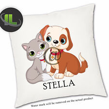 Personalised Cat and Dog cushion Cover.Personalise with your own text-ILVC1242