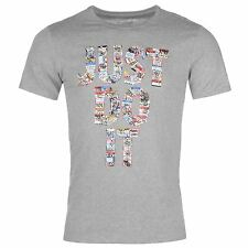 Nike Just Do It Sticker QTT T-Shirt Mens Grey Top Tee Shirt