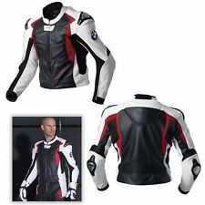 BMW LEATHER JACKET MOTORCYCLE RACKING JACKET MEN MOTORBIKE BIKER LEATHER JACKET