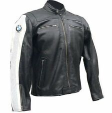 BMW MEN LEATHER JACKET MOTORCYCLE RACKING JACKET MOTORBIKE BIKER LEATHER JACKETS