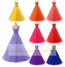 Halter-Neck Formal Evening Dress Prom Party Ball Wedding Gowns Quinceanera Dress