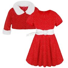 Toddlers Baby Girl  Santa Clothing Christmas Holiday Party Dress Outfits Costume