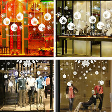 Christmas Xmas Snowflake Removable Window Stickers Art Decal Wall Home Shop Deco