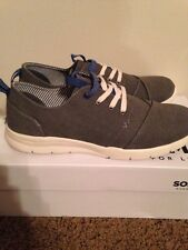 New Mens Sonoma Dune Grey Casual Lace Up Textile Shoe