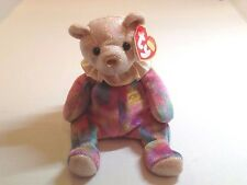 Ty Beanie Baby Original Opal the Teddy Bear October Birthday Birthstone Plush...