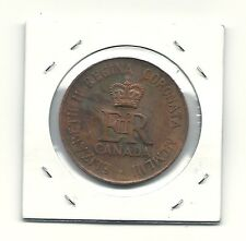 CANADA 1953 QUEEN ELIZABETH II CORONATION COPPER MEDALLION TOKEN