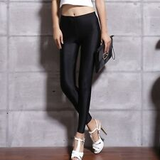 Sexy Skinny Leggings Ladies Apparel Shiny High Waisted Stretchy Hot Pants Skinny
