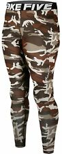 Ladies Baselayer Camo Long Pants Armour Compression Tights Trousers Gym Yoga