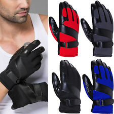 Fashion Mens Winter Warm Motorcycle Driving Full Finger Ski Warm Gloves Mittens