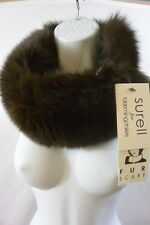 Surell For Bloomingdales 100% Real Fur Scarf Or Headband Velcrow $168 NWT