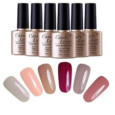 Any 6pcs Soak off Gel Nail Polish Nail Art Led UV Gel Color Varnish Manicure Kit
