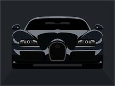 Bugatti Veyron Car Pop Art Print Poster - s729