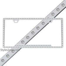 License 2 Bling Ice Polished Chrome Swarovski Crystal License Plate Frame 125