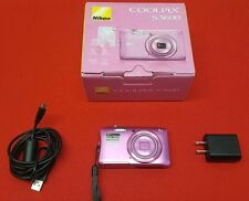 NIKON Coolpix S3600 Point & Shoot Digital Camera PINK * W/ BOX * NO RESERVE