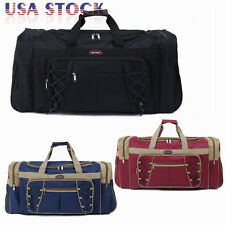 "26"" Large  Duffle Bag Carry-on Overnight GYM Travel Tote Luggage Suitcase &Strap"