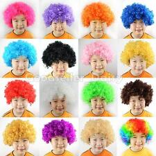 Halloween Clown Curly Afro Circus Fancy Dress Hair Wig Xmas Party Disco Costumes