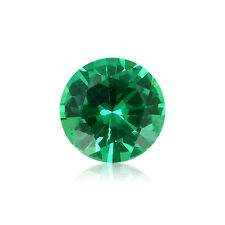 1.6 mm AAA Round Diamond Cut - Israeli Machine Cut Emerald Loose Gemstone