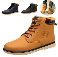 Fashion Mens Winter Warm Military SnowBoots Combat Martin High-top Lace Up Shoes