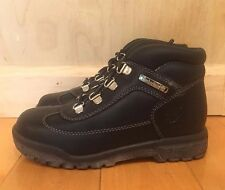 VINTAGE TIMBERLAND FIELD BOOT BLACK LEATHER YOUTH PS SZ 12-3C   16709