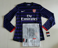Arsenal 2012-13 Nike Away Long-sleeve Large Sponsor version Player issue Shirt