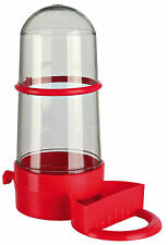 Bird Water & Food Dispenser Bird Cage Seed Water Bottle  Colour red 265ml