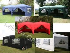 AirWave 6x3mtr Pop Up Gazebo Fully Waterproof with Sides and Bag, Garden Gazebo