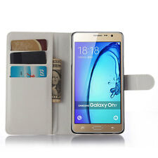 Luxury Soft Leather Flip Folio Phone  Case Stand Cover For Samsung Galaxy On5