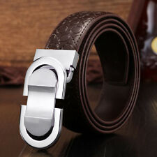 Men Genuine Leather Belt Designer Belts Chic Unique Leique Texture Ratchet Belt