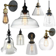 Retro Glass Ceiling Lights Wall Shade Lamp Loft Bar Pendant Chandelier Sconces