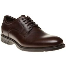 New Mens Rockport Brown City Series Plain Toe Leather Shoes Lace Up