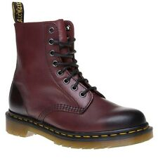 New Womens Dr. Martens Red Maroon Pascal Leather Boots Ankle Lace Up