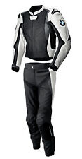 BMW MEN RACING BIKER LEATHER JACKET TROUSER MOTORBIKE LEATHER SUIT MOTORCYCLE