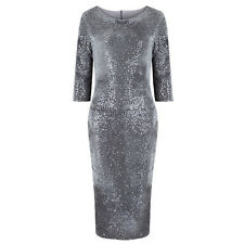 Silver Velour Sequin Hollywood Wiggle Bodycon Pencil Party Cocktail Prom Dress