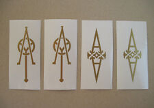 GOLD HEADSTOCK VINYL DECAL INLAY STICKER ACOUSTIC GUITAR