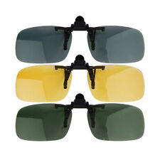 TOP Clip-on Lens Polarized Day Night Vision Driving Glasses Sunglasses Eyewear#@
