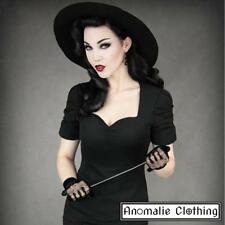 Black Elegant Sweetheart Top - Restyle - Victorian Gothic Retro Rockabilly Pinup